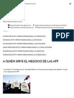 A Quién Sirve El Negocio de Las AFP - Fundacion Sol