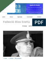 Falleció Ríos Ereñú – Prisionero en Argentina-21!06!17