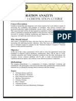 Course Outline - Vibration Analyst (Category 1)