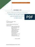 INDICE DE ALARGAMIENTO Y APLANAMIENTO EN LOS AGREGADOS