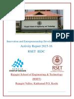 RSET IEDC Activity Report 2015-2016