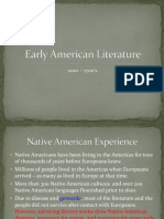 Early American Literature Historical Background