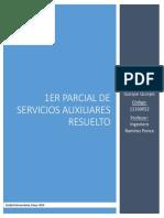 Solución de Examen Parcial de Servicios Auxiliares e Instalaciones Mineras