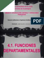 Funciones Departamentales y Sistema de Contabilidad