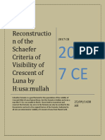 Husam's Reconstruction of Schaefer's Formula of Visibility of Crescent Of Luna [Revised]