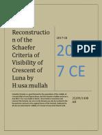 Husam's Reconstruction of Schaefer's Formula of Visibility of Crescent Of Luna [Revised]