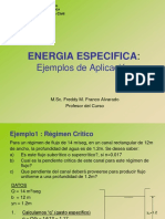 Energia Especifica Ejemplos