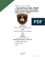 Monografia de Delitos Contra El Parimonio Peru