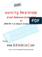 Banking Awareness Quick Reference Guide 2015