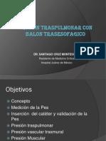Presion Traspulmonar Con Balon Trasesofagico