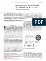 Six Step Control vs Direct Torque Control comparative evaluation for BLDC drive
