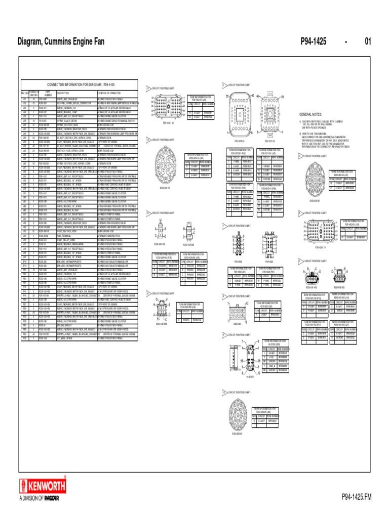 P94 1425 Paccar Engine Diagrams