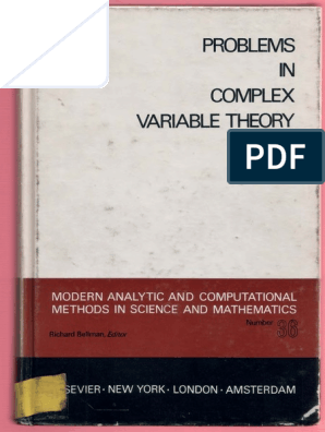 Problems in Complex Variable Theory | Series (Mathematics