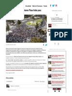 [Fotos] Colocolinos repletaron Plaza Italia para celebrar el título.pdf
