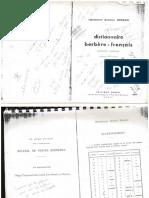 Dictionnaire Français-Berbère d'Antoine JORDAN