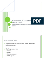 2 - Constant _ Variables and Data Types