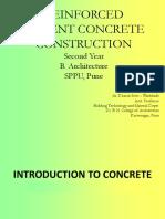 Reinforced Cement Concrete