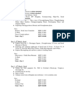 Bismillah Itinerary for South Korea Visa
