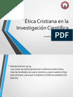 La Etica Cristiana en La Investigacion Cientifica