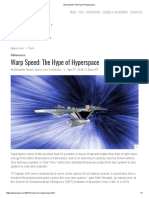 Warp Speed_ the Hype of Hyperspace