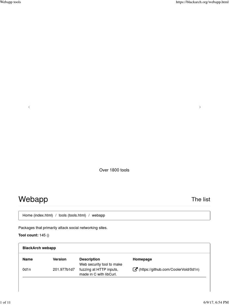 Webapp Tools | Web Application | Joomla