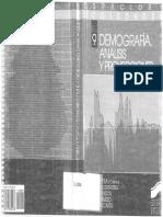 Demografía. Análisis y Proyecciones. Julio Vinuesa