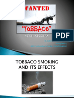Tobbaco Smoking and Its Efeects Revised