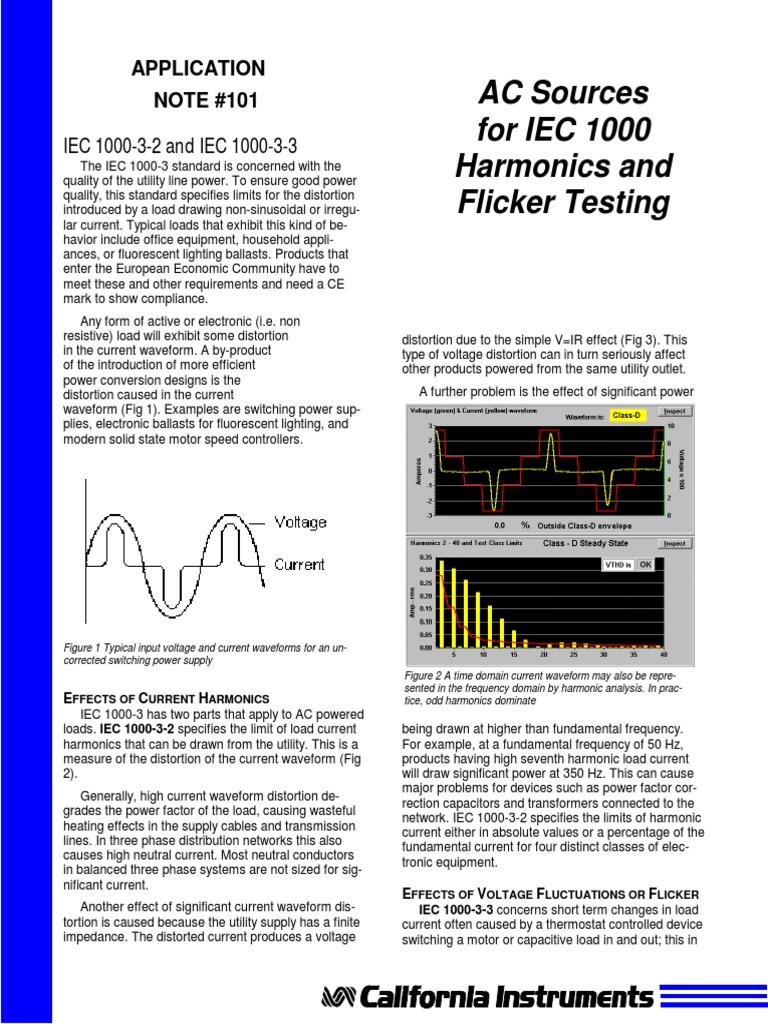 App101 IEC 555 (Harmonics-&-Flicker) Testing   Electrical Impedance
