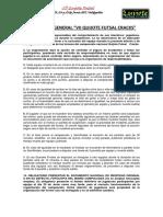 Reglamento Quijote Futsal Cracks 2017