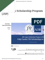 ADB-Japan Scholarship Program (JSP) - Youth Opportunities