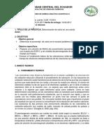 Informe Determinación de Calcio en Calcita