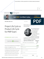 Project Life Cycle vs Product Life Cycle for PMP Exam - PMP Exam, Agile PMI-ACP, ITIL, PRINCE2 Certification Tips & Notes 2017.pdf