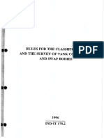 Rules of Classification of Tank