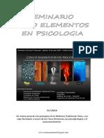 Apunte Cinco Elementos - Medicina Tradicional China y Psicologia