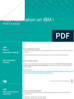 Test Automation POC for IBM i