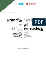Dossier de presse - Francfort en français