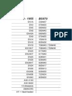 Bs 970 Steel Numbers 1955 1991