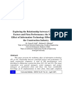 Exploring the Relationship between Contextual Factors and Firm Performance the Mediating Effect of Information Technology Effectiveness on the Construction Industry