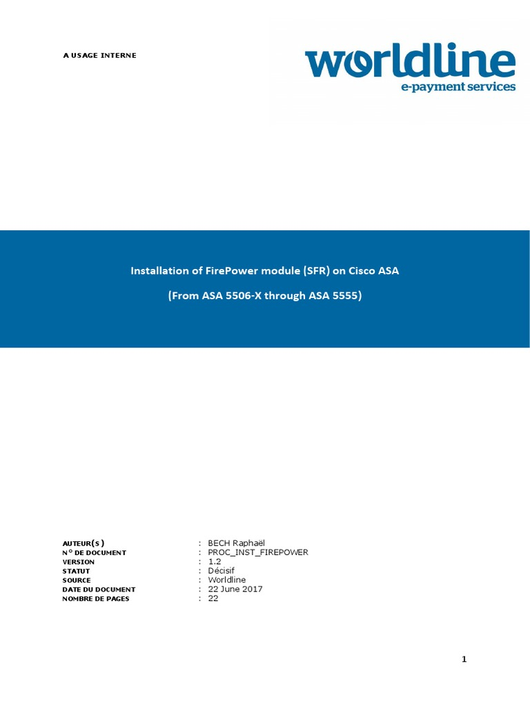 Install Guide FirePower Module on Cisco ASA v1 1 | I Pv6 | Command