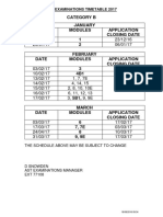 Ast Examinations Catb Timetable 2017