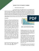 Francis Turbine Laboratory Report