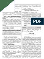 Decreto Supremo que modifica el Reglamento de la Ley N° 29338 Ley de Recursos Hídricos aprobado por Decreto Supremo N° 001-2010-AG