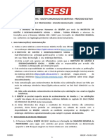 Edital Concurso SESI