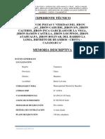 Memoria Descriptiva DISEÑO DE PAVIMENTOS