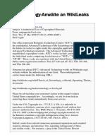 Scientology-Anwälte an WikiLeaks