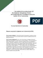 Projet de règlement sur le bénévolat - Mémoire de la section locale 135.pdf