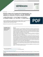 Práctica Clínica en El Manejo de La Hipertensión y La Diabetes en APS