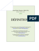 Alain Definitions
