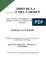 1952 El Libro de La Virgen Del Carmen Samael Aun Weor