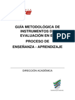Guía Metodológica de Instrumentos de Evaluación en El